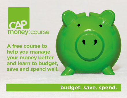 CAP money coaching course Advert
